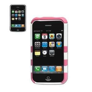 Protector Cover for Apple Iphone 3GS   Pink White Electronics