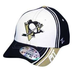 NHL PITTSBURGH PENGUINS WHITE FLEX FIT XL XLG HAT CAP