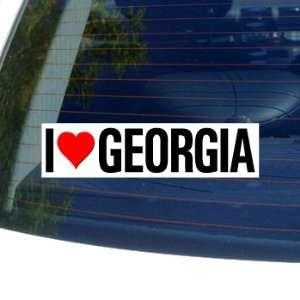 I Love Heart GEORGIA   Window Bumper Sticker Automotive