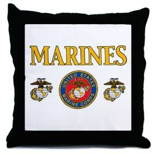Throw Pillow Marines United States Marine Corps Seal