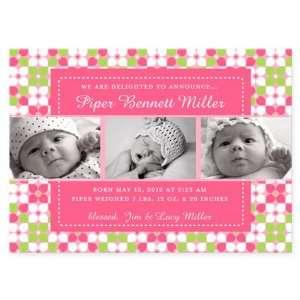 Piper Bennett Take Note Baby Birth Announcement Health