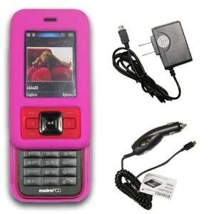 **COMBO** Kyocera Laylo M1400 Hot Pink Silicone Skin Case