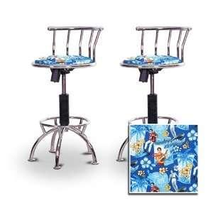 2 24 29 Elvis Presley Blue Hawaii Fabric Seat Chrome
