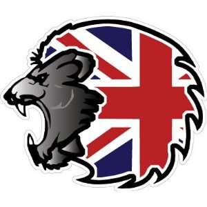 United Kingdom UK GB England Lion Flag Car Bumper Sticker Decal 4x3.5