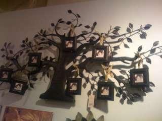 NEW Bronzed Tree Of Life WALL DECOR Bird Iron Photo Box