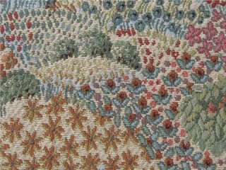 One yard Upholstery Tapestry fabric trees flowers pinks green blue