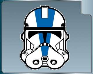 Star Wars 501st CLONE TROOPER HELMET vinyl decal Vader