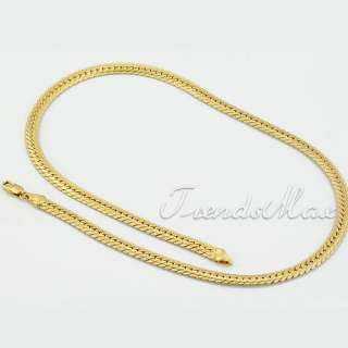 6MM MENS 18K Gold Filled Plated Herringbone Necklace Link Chains GN21