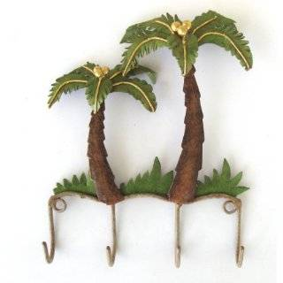 Palm Tree Mail Rack Key Holder Tropical Letter Decor