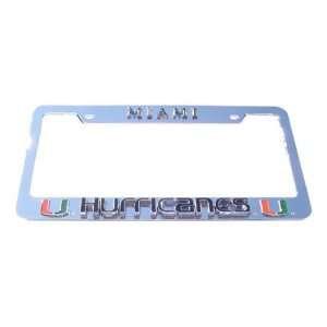Miami Hurricanes License Plate Tag Frame Sports