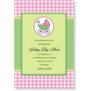 Girl Baby Shower Invitations   Check Effect Sweet Dreams