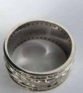 artcarved 1 00ct art deco diamond wide mens eternity wedding band ring