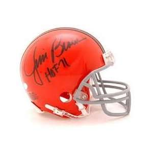 Jim Brown Hand Signed Autographed Cleveland Browns Riddell Mini Helmet