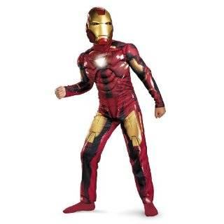 Iron Man 2 Mark 6 Light Up Deluxe Costume, Child S(4 6)