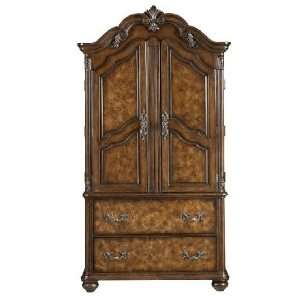Stanley furniture bedroom armoire antique 4 drawers tv stand made in for Master bedroom set with armoire