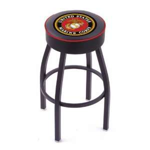 US Marine Corps Single Ring Swivel Bar Stool: Sports