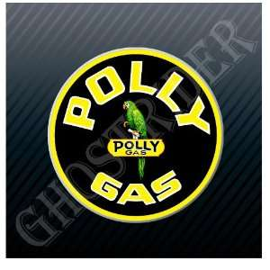 Poly Gas Gasoline Fuel Pump Vintage Sticker Decal