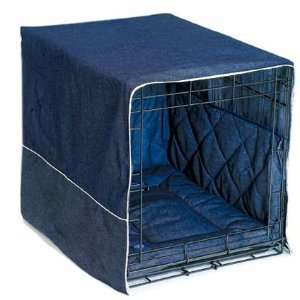 Dog Supplies Front Door Dog Crate Cover   Medium / Denim