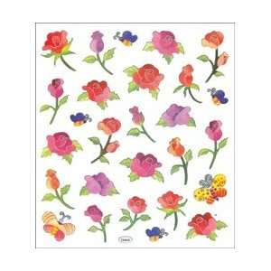 Tattoo King Multi Colored Stickers Long Stemmed Roses; 6