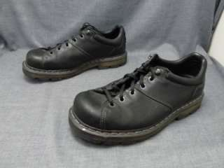 Dr Martens Mens Black leather Shoe 10M Tie Lace up EUC casual