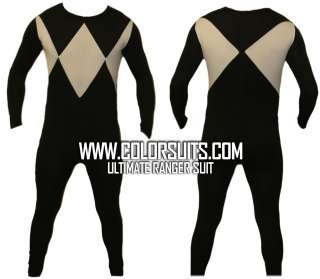 Mighty Morphin Power Rangers Black Power Ranger Costume Suit   v2