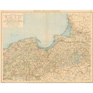Andree 1899 Antique Map of Prussia