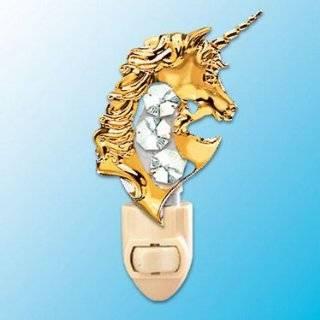 Unicorn 24k Gold Plated Swarovski Crystal Night Light
