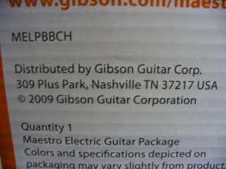 Gibson Maestro Single Cutaway MELPBBCH Electric Guitar & Amp Pkg. New