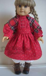 DOLL CLOTHES Fit American Girl Kirsten School Dress Set