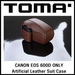 dslr camera leather case bag for EOS CANON 600D only