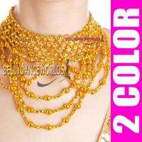 DANCING CHOKER NECKLACE COSTUME JEWELRY BOLLYWOOD PROPS GOLD/SILVER