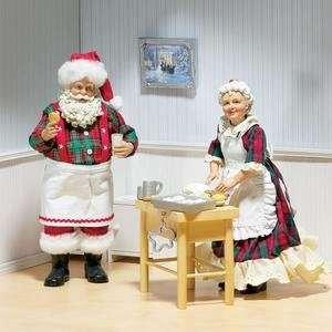 Collectible Family Recipe Fabriche Mr & Mrs Santa Claus