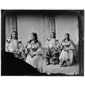 Indian Group. Chief Ouray & Chipeta (Ute Tribe)