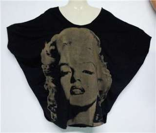 Celebrity MARILYN MONROE Grey Black Kimono T SHIRT,M/L