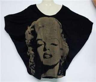 Celebrity MARILYN MONROE Grey Black Kimono T SHIRT,M/L