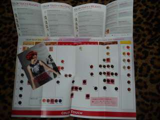 WELLA COLOR TOUCH SWATCH HAIR COLOR paper CHART sheet |