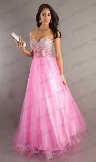 2012 Long Sweetheart Wedding Evening Dress Prom Gown Party Formal