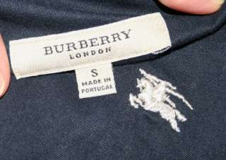 Mens Navy BURBERRY LONDON Oxford Dress Shirt Small S