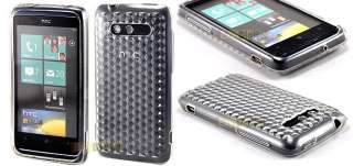 SOFT CLEAR TPU Gel Case Cover For HTC 7 Trophy + S Film
