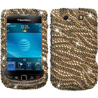 DIAMOND BLING CRYSTAL FACEPLATE CASE COVER BLACKBERRY TORCH 9800 9810