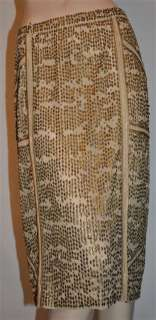 KAUFMANFRANCO 021 Antique Gold Leaf beaded skirt 6 / 42