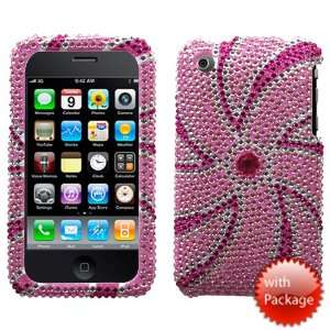 Pink Windmill Premium Diamante Crystal Protector Cover for