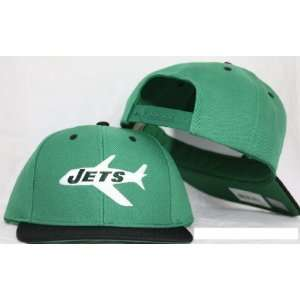New York Jets Retro Logo Snapback Cap Hat Green Black