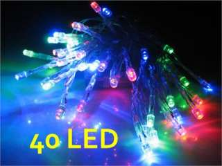 40 LED Colorful BATTERY String Fairy Light Party (Yellow, red, green