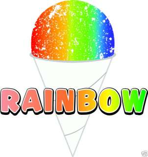 Rainbow Sno Cone Concession Cart Decal 12