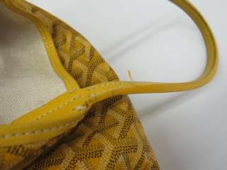 Auth GOYARD SAINT LOUIS PM SHOULDER BAG COATING CANVAS YELLOW