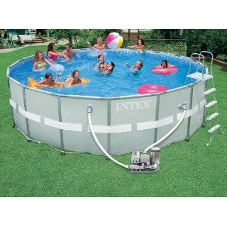 Intex 18x52 Round Ultra Frame Above Ground Swimming Pool Package