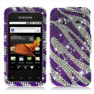 Samsung M820 Galaxy Prevail Boost mobile Purple Bling Hard Case Cover