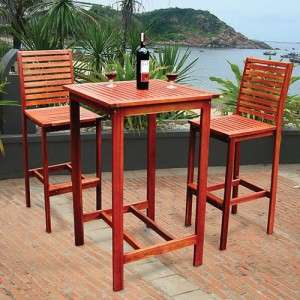 Piece Dartmoor Indoor Outdoor Bar Pub Dining Patio Garden Furniture
