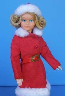 MOD 1976 DELUXE QUICK CURL SKIPPER Barbie Doll in BEST BUY Winter Coat